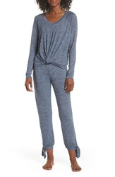 Ugg Fallon Long Pajamas Navy Heather
