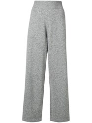 Barrie Ribbed Waistband Track Pants Grey