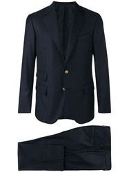 Caruso Tailored Suit Jacket Blue
