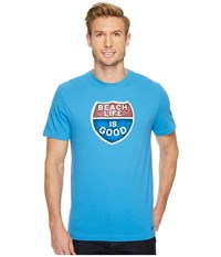 Life Is Good Beach R Crusher Tee Marina Blue Men's T Shirt