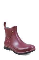 Bogs Amanda Waterproof Rain Boot Burgundy Rubber
