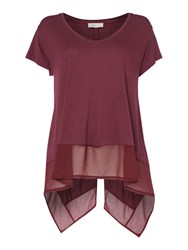 Label Lab Latimer Chiffon Mix Split Back Tee Wine