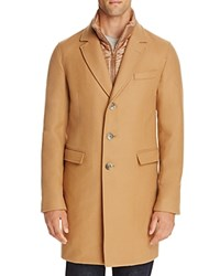 Herno Wool Blend Overcoat With Bib Camel
