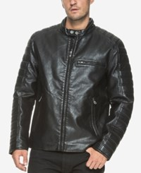 Marc New York Men's Padded Sleeve Moto Jacket Black