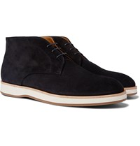 Hugo Boss Oracle Suede Desert Boots Blue