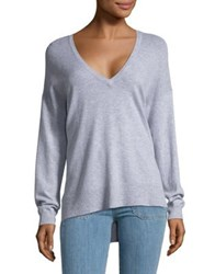 French Connection Hi Lo V Neck Top Heather Grey