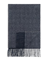 Bloomingdale's The Mens Store At Bloomingdales Diamonds Cashmere Scarf Light Grey Steel Blue