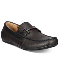 Alfani Men's Jude Textured Driver Loafers With Bit Only At Macy's Men's Shoes Black