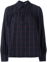 Maison Kitsune Check Long Sleeve Shirt Black