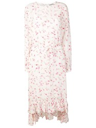 Essentiel Antwerp Floral Print Midi Dress Pink