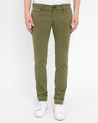 Diesel Khaki Chi Shaped Slim Fit Chinos