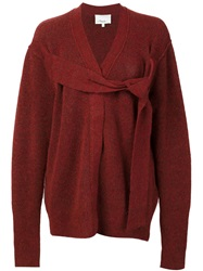 3.1 Phillip Lim Belted Detail Cardigan Red