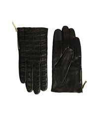 Kate Spade Bow Quilted Gloves With Side Zipper Black Extreme Cold Weather Gloves
