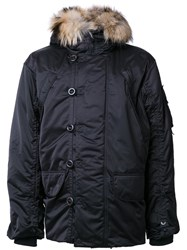 Kru 'Maverick' Fur Hood Parka Black