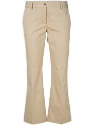 Alberto Biani Cropped Trousers Nude And Neutrals