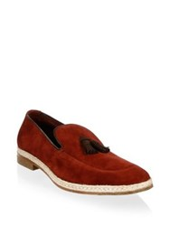 A. Testoni Classic Suede Loafers Redwood