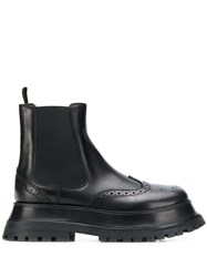 Burberry Brogue Chelsea Boots Black