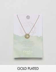 Orelia Gold Plated Heart Chakra Necklace Gold