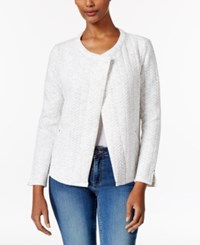 Calvin Klein Jeans Open Front Quilted Jacket Light Heather Grey