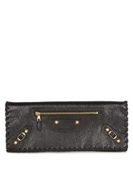 Balenciaga Giant 12 Leather Clutch Black