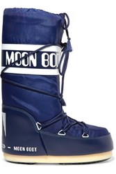 Moon Boot Shell And Rubber Snow Boots Blue