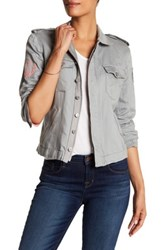 Zadig And Voltaire Kavy Linen Blend Jacket Gray