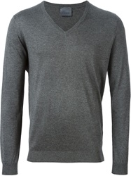 Laneus V Neck Sweater Grey