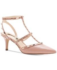 Inc International Concepts Carma Pointed Toe Studded Kitten Heel Pumps Only At Macy's Women's Shoes Blush