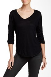 Fate Scoop Neck Long Sleeve Tee Black