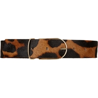 Maison Boinet Leopard Print Pony Hair And Calfskin Belt