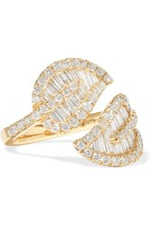 Anita Ko Leaf 18 Karat Gold Diamond Ring