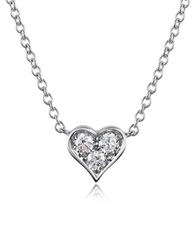Forzieri 0.31 Ct Diamond Heart Pendant Necklace White Gold