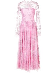 Christian Siriano Embellished Tulle Full Dress Pink