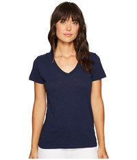Mod O Doc Slub Jersey Short Sleeve V Neck Tee True Navy Women's Short Sleeve Pullover