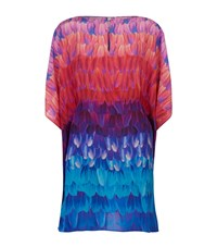 Gottex Printed Silk Kaftan Dress Female Multi