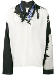 Haider Ackermann Bleach Print Kimono Shirt Men Silk L White