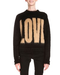 Givenchy Love Long Sleeve Pullover Sweater Black Brown Women's