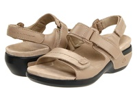 Aravon Katy Taupe Leather Women's Sandals