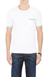 Barneys New York Trimmed Jersey T Shirt Colorless