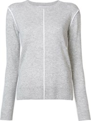 Derek Lam 10 Crosby Crew Neck Jumper Grey