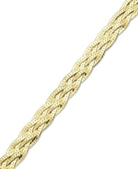 Giani Bernini 24K Gold Over Sterling Silver Bracelet Braided Bracelet None