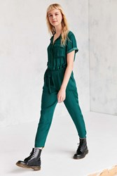 Bdg Piper Satin Coverall Jumpsuit Green