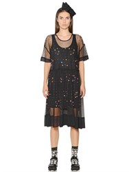 Essentiel Embroidered And Sequined Tulle Dress