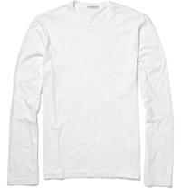 James Perse Long Sleeved Cotton Jersey T Shirt White