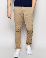 Selected Homme Chinos In Skinny Fit Beige