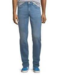 7 For All Mankind Slimmy Straight Leg Jeans Light Blue