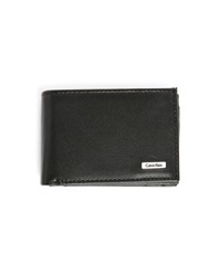 Calvin Klein Black Leather Mini Format Flap Coin Wallet