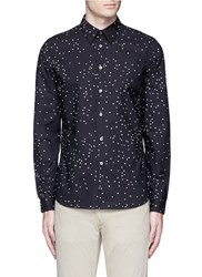 Paul Smith Micro Heart Print Cotton Shirt Black