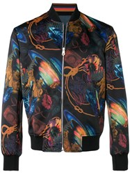 Paul Smith Ps By Printed Bomber Jacket Black