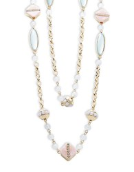Nanette Lepore Two Row Stone Accented Necklace Multi